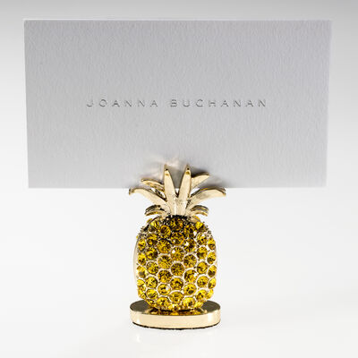 Joanna Buchanan Set of 2 Yellow Pineapple Place Card Holders, , default