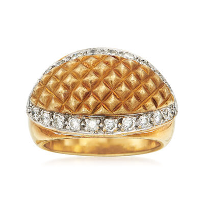 C. 1990 Vintage .60 ct. t.w. Diamond Grid Ring in 18kt Two-Tone Gold, , default