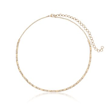 """.76 ct. t.w. Diamond Collar Necklace in 14kt Yellow Gold. 13"""", , default"""