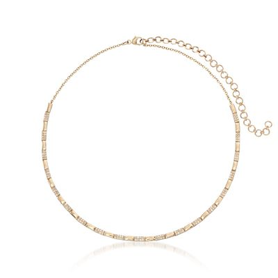 .76 ct. t.w. Diamond Collar Necklace in 14kt Yellow Gold, , default