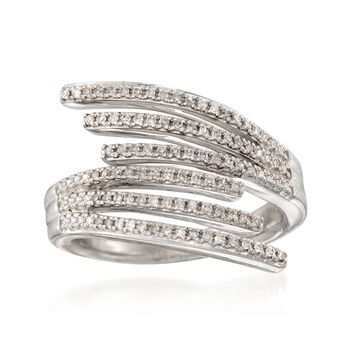 .25 ct. t.w. Diamond Multi-Row Bypass Ring in Sterling Silver, , default