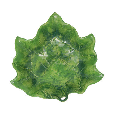 "Vietri ""Foglia"" Green Serving Bowl from Italy"