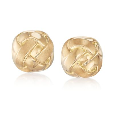 Italian 18kt Yellow Gold Woven Earrings, , default