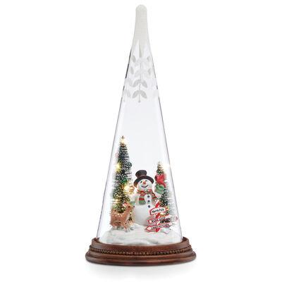 Lenox Light-Up Snowman and Pals Glass Tree, , default