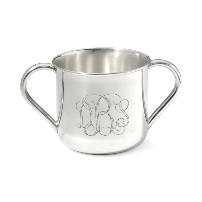 "Reed & Barton ""Newton"" Baby's Sterling Silver Personalized Double-Handled Cup"