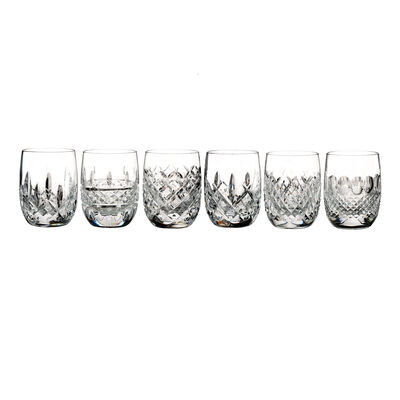 "Waterford Crystal ""Connoisseur"" Set of 6 Heritage Rounded Tumbler Glasses"