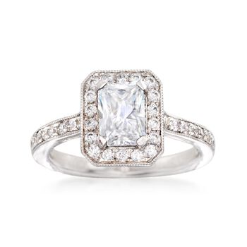 Gabriel Designs .52 ct. t.w. Diamond Engagement Ring Setting in 14kt White Gold, , default