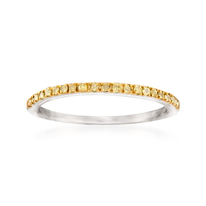 .15 ct. t.w. Yellow Diamond Anniversary Ring in Sterling Silver