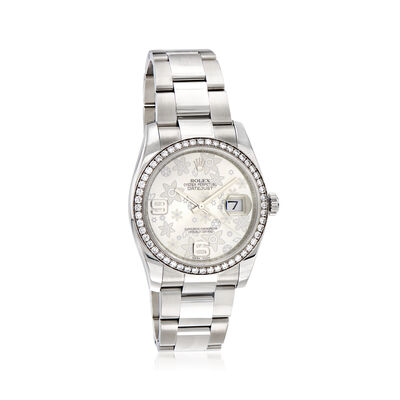 Pre-Owned Rolex Datejust Women's 36mm Automatic Stainless Steel Watch with 18kt White Gold, , default