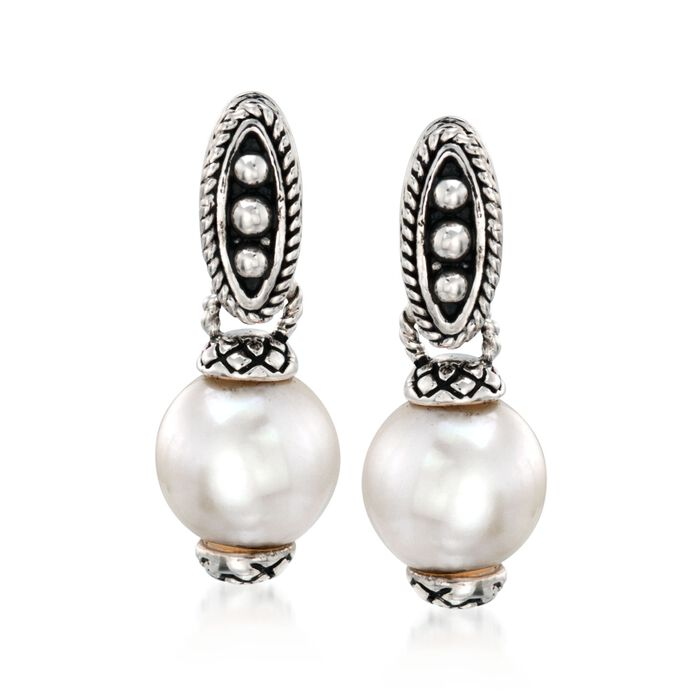 Andrea Candela 7.5-8mm Pearl Drop Earrings in Sterling Silver, , default