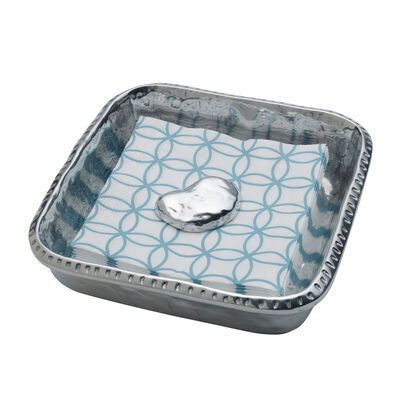 """Wilton Armetale """"River Rock"""" Napkin Holder with Weight, , default"""