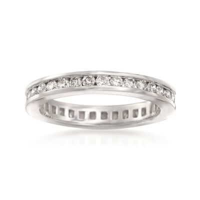 1.00 ct. t.w. Channel-Set Diamond Eternity Band in 14kt White Gold, , default