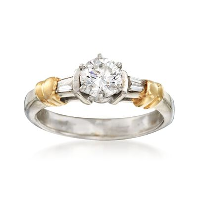 C. 1990 Vintage .67 ct. t.w. Diamond Ring in 14kt Two-Tone Gold, , default