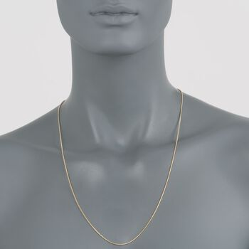 """1mm 14kt Yellow Gold Snake Chain Necklace. 24"""", , default"""