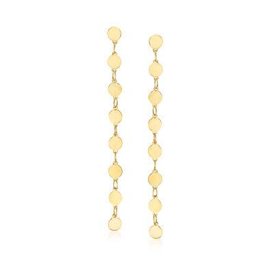14kt Yellow Gold Linear Drop Earrings