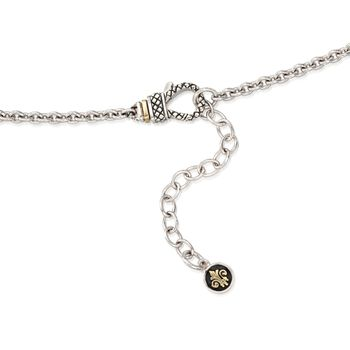 """Andrea Candela Diamond Accent Floral Pendant With Chain in 18kt Yellow Gold and Sterling Silver. 16"""", , default"""