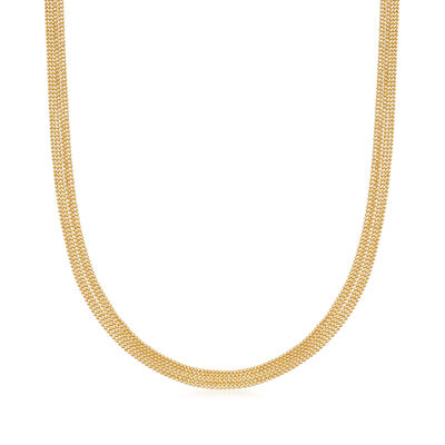 Italian 14kt Yellow Gold Six-Strand Bead Chain Necklace