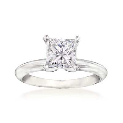 1.63 Carat Certified Diamond Solitaire Engagement Ring in 14kt White Gold