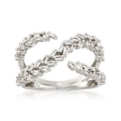 .48 ct. t.w. Baguette Diamond Infinity Openwork Ring in 14kt White Gold, , default