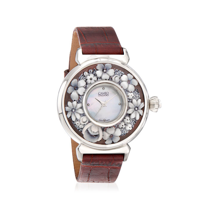 Italian Cameo Italiano Women's Floral and Mother-Of-Pearl Watch, , default