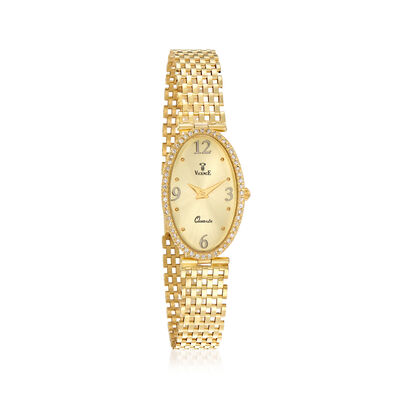 Vicence Women's 18mm .26 ct. t.w. Diamond Watch in 14kt Yellow Gold