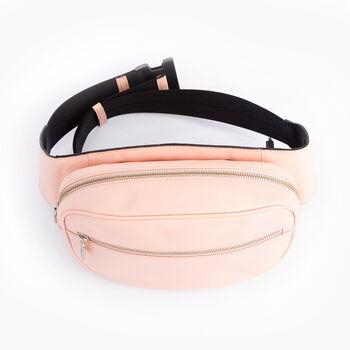 Royce Pink Leather Hip and Crossbody Belt Bag, , default