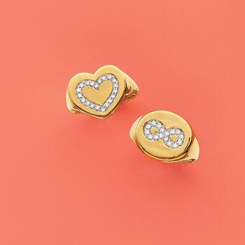 .15 ct. t.w. Diamond Infinity Symbol Signet Ring in 14kt Yellow , , default