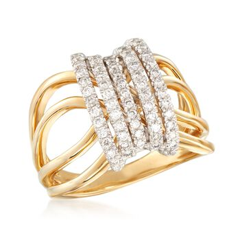 .50 ct. t.w. Diamond Open-Space Ring in 14kt Yellow Gold