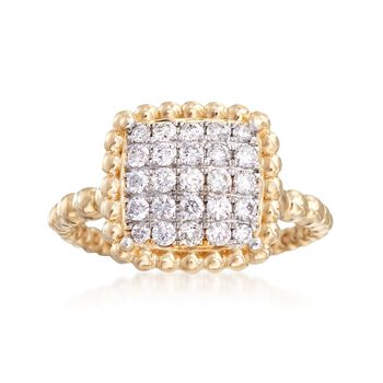 .50 ct. t.w. Diamond Square Ring in 14kt Yellow Gold, , default