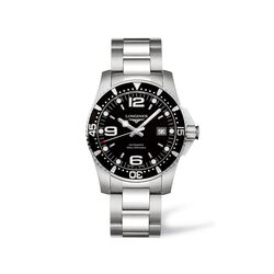 Longines Hydroconquest Men's 41mm Automatic Stainless Steel Watch - Black Dial, , default
