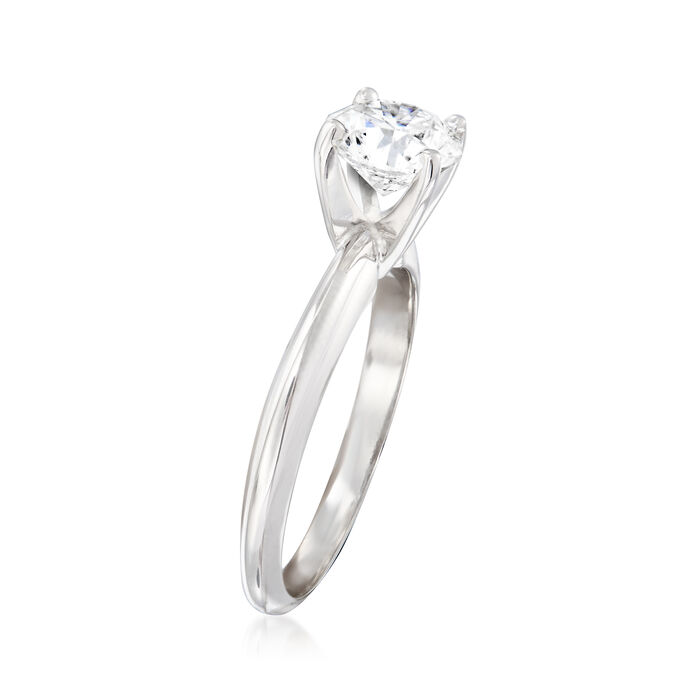 1.20 Carat Certified Diamond Solitaire Engagement Ring in 14kt White Gold