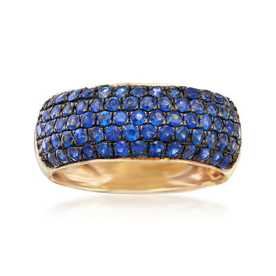 1.20 ct. t.w. Sapphire Multi-Row Ring in 14kt Yellow Gold, , default