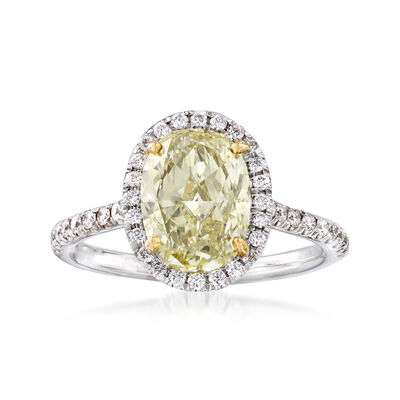 2.64 ct. t.w. Yellow and White Diamond Ring in 18kt Two-Tone Gold, , default