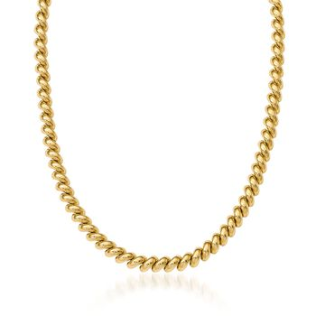 "14kt Yellow Gold San Marco Necklace. 16"", , default"