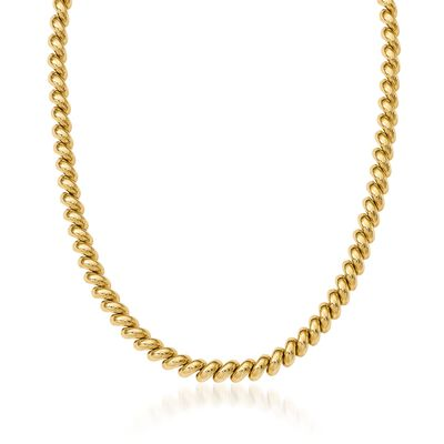 14kt Yellow Gold San Marco Necklace, , default