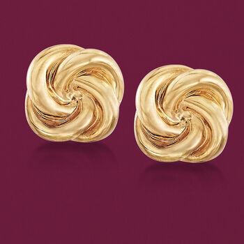 Italian 14kt Yellow Gold Swirl Clip-On Earrings, , default