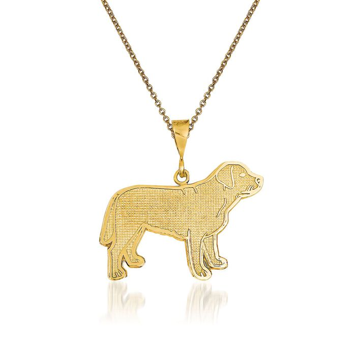 14kt Yellow Gold Labrador Pendant Necklace. 18""
