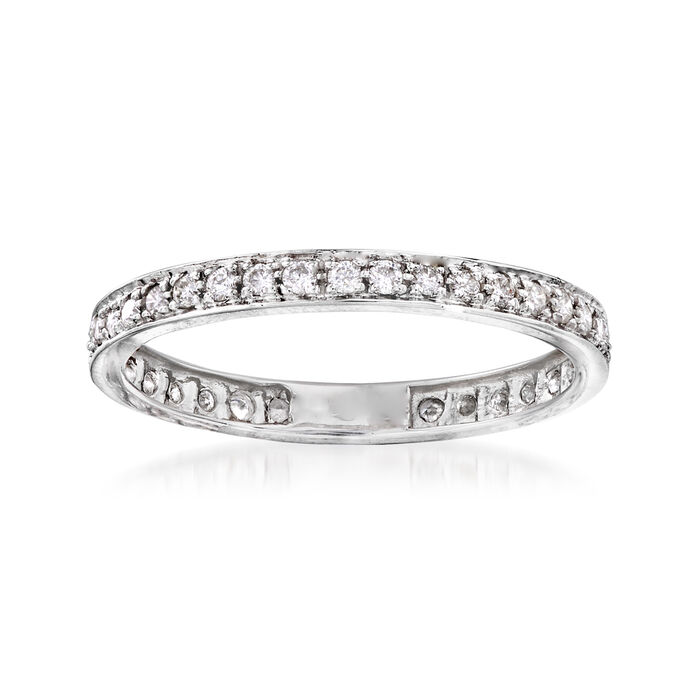 .30 ct. t.w. Diamond Eternity Band in 14kt White Gold, , default