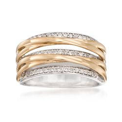 .25 ct. t.w. Diamond Highway Ring in 14kt Two-Tone Gold, , default