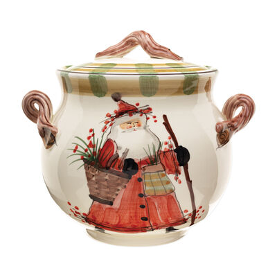 """Vietri """"Old St. Nick"""" Cookie Jar from Italy"""
