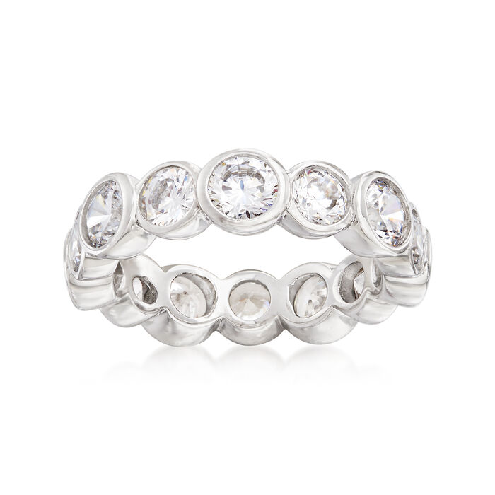 4.00 ct. t.w. CZ Eternity Band in Sterling Silver, , default