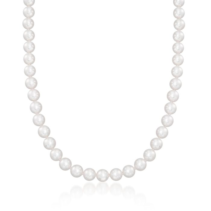 Mikimoto 7-8mm A1 Akoya Pearl Jewelry Set: Earrings, Necklace and Bracelet with 18kt White Gold