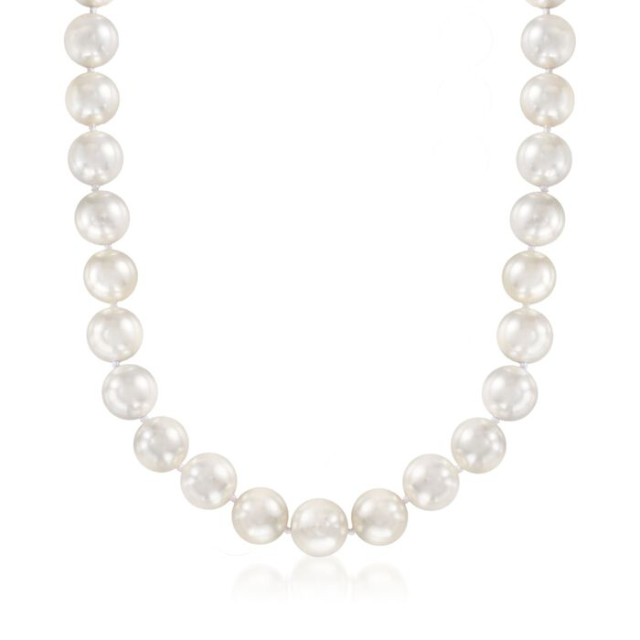 13.5-14mm Shell Pearl Necklace with Sterling Silver, , default