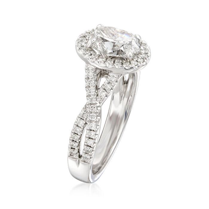 Henri Daussi 1.66 ct. t.w. Diamond Engagement Ring in 18kt White Gold