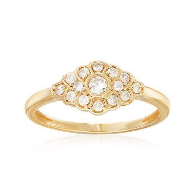 .25 ct. t.w. Diamond Marquise-Shaped Ring in 14kt Yellow Gold