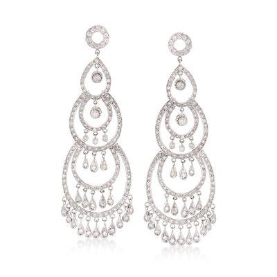 C. 2000 Vintage 4.16 ct. t.w. Diamond Chandelier Earrings in 18kt White Gold, , default