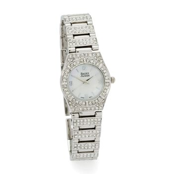 Saint James Women's 25mm Crystal and Mother-Of-Pearl Watch in Stainless Steel, , default