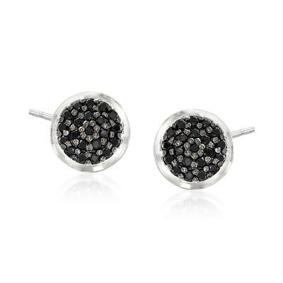 .40 ct. t.w. Black Spinel Earrings in Sterling Silver