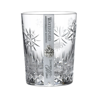 "Waterford Crystal ""Snowflake Wishes"" Love Anniversary Edition Double Old Fashioned Glass"