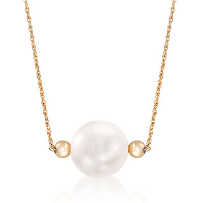 12-13mm Cultured Pearl Necklace in 14kt Yellow Gold, , default
